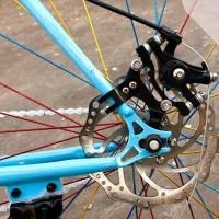 Sepeda Disc Brake Bracket Frame Adaptor untuk 160mm Rotor