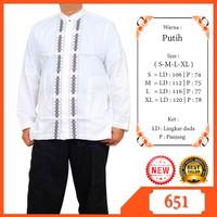 Baju Koko Lengan Panjang Warna Putih Baju Muslim Pria Albatar