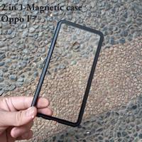 Oppo F7 Premium 2 in 1 magnetic phone case -Transparant