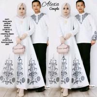 Alexa Couple Gamis dan koko putih / baju lebaran murah