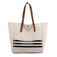 More584 Rumi Canvas Totebag Import / Shoulder Bag Kanvas / Tas Wanita