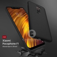 Case Xiaomi Pocophone F1 Evoskin Anti Skid Silicone - Biru