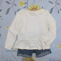 preloved peplum blouse korea style import / atasan blus murah