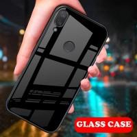 Glass Case Xiaomi Redmi Note 7 Casing Hardcase Anticrack Mi Note 7