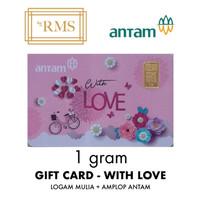 1GR (GRAM) LOGAM MULIA GIFT CARD WITH LOVE/EMAS ANTAM SERTIFIKAT (NEW)