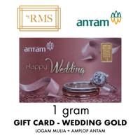 1GR (GRAM) LOGAM MULIA GIFT CARD WEDDING GOLD/EMAS ANTAM SERTIFIKAT
