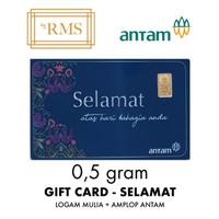 0,5GR (GRAM) LOGAM MULIA GIFT CARD SELAMAT/EMAS ANTAM SERTIFIKAT (NEW)