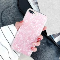 Pink Crystal Marble Case Samsung A6/ A6 Plus A7 A9 2018 Softcase Bling