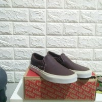 Sepatu Vans Classic Slip On Brown Leather 39 ORIGINAL BNIB TERMURAH