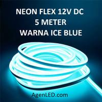 Lampu Neon Flex LED 12V DC neonflex 12 v volt sign 12volt ICE BLUE ICY