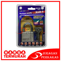 TERMURAH - GEMBOK 50 MM PENDEK AMERICAN SECURE ANTI MALING 50MM SHORT