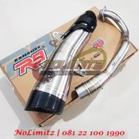 Knalpot Racing Full System R9 H2 Stainless Honda Forza 250