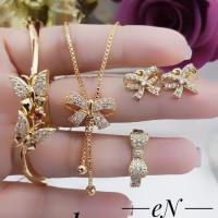 xuping set perhiasan lapis emas 24k 304s