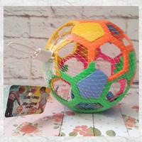 Mainan Bola Rattle Kerincingan dengan Suara Nyaring untuk Bayi