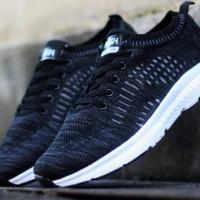 Sepatu Running Impor Pria Adidas Grey Ukuran 39-44