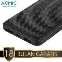 ACMIC C10PRO Power Bank 10000 mAh QC 3.0 PD Power Delivery - Black