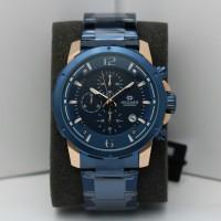 JAM TANGAN PRIA HEGNER 5035 ROSEGOLD BLUE ORIGINAL