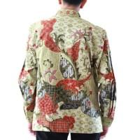 pilihan anda baju hem pria formal motif batik tulis bahan sutra halus