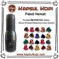 Paket Hemat Portable Nespresso Coffee Maker bonus 20 kapsul Nespresso