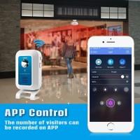 KERUI WM7 wifi Alarm bel selamat datang rumah toko Lampu Malam WIFI