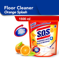 SOS Pembersih Lantai Orange Splash Refill [1500 ML]
