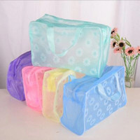 Travel Make Up Toiletries Organizer Pouch Bag Tas Kosmetik Bunga