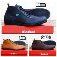 Sepatu KICKERS Sneaker Casual Pria kulit