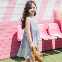 0057 Summer Dress Import Korea Anak Perempuan Katun Adem Murah