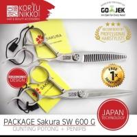 Paket Gunting rambut Sakura SW 600 G - Silver