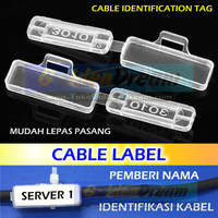 Cable Label Name Tag Identification ID Labeler Penamaan Kabel Wire