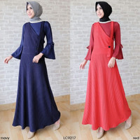 LC9217 - SET OVERALL SLEEVA Size L - Outfit gamis babat murah