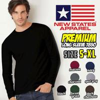 Kaos Polos NSA Premium Cotton Long Sleeve 7280 (COLOR, SIZE XXL)