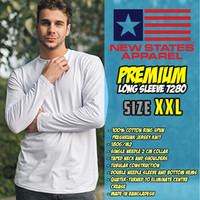 New States Apparel Premium Cotton Long Sleeve 7280 (WHITE, SIZE XXL)