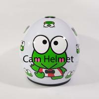 Helm Motor SNI bogo Keropi White + kaca ava original