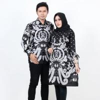 Batik Couple Atasan - Tunik dan Kemeja Merak Putih