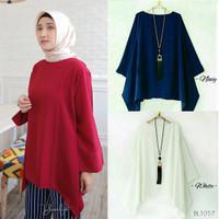 Dweepa Blouse Tunik Baju Muslim Blus Blouse Atasan Wanita Dwipa BL1057 - Maroon