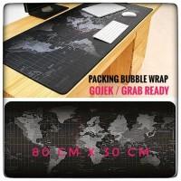 Mousepad Gaming Besar Motif Peta Dunia 80 x 30 cm - Black