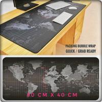 Mousepad Gaming Besar Motif Peta Dunia 80 x 40 cm - Black
