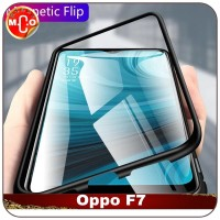 Oppo F7 Magnetic Metal Frame Shell Case Casing Cover Sarung HP