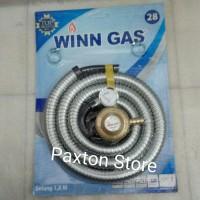 Selang Gas Paket Winn Gas Komplit / Regulator Selang Gas Wingas
