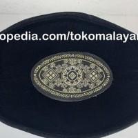 Peci Hitam Pita Silver Songkok Awang Ac Eceran - Hitam Terlaris