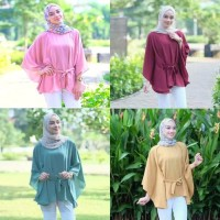 Atasan Wanita Clove Blouse Tunik Baju Muslim Blus Muslim Kuning
