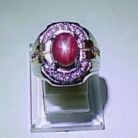 Cincin Batu Permata Merah Ruby Star Dijamin Asli Natural 01