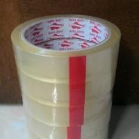 selotip / isolasi bening lebar 2,4 cm