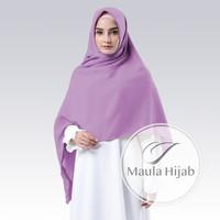 Hijab Kerudung Jilbab Segi Empat Syari Segiempat Polos Woolpeach 130cm