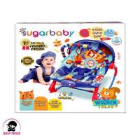 SUGAR BABY 10 IN 1 Wooden Folks Navy Baby Bouncer - RCK30006