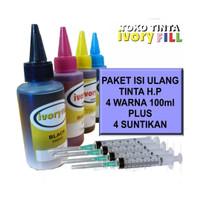 paket tinta untuk refill HP 1050 2676 1515 2135 3635 GT5810 GT5820 dll