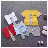 Setelan Baju Anak Laki-Laki Dasi Salur / Set Baju Bayi Import