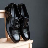 Winshor Tylon Black - Sepatu Pantofel Pria Premium - Black - 39