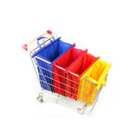 Tas Trolly supermarket 4 warna bisa dilipat dan mudah dibawa